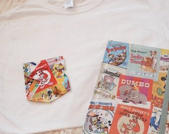 Classic Cartoon Poster Tee Pocket