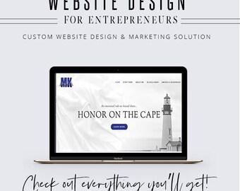 Website Design for Entrepreneurs - Custom Site Design - Feminine Website Design - Pro Blogger Design