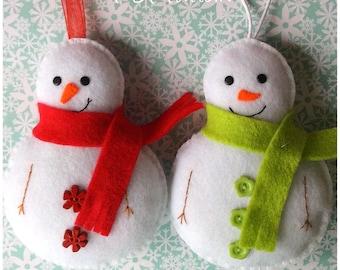 Snowman pdf Sewing Pattern