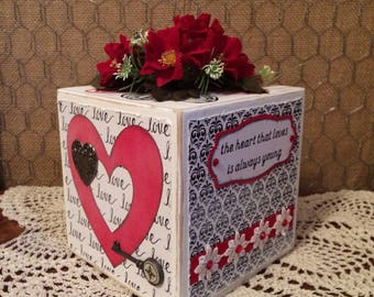 Valentine Decoration/Gift Wooden Block