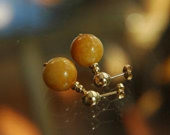 Yellow Jade Berry Earrings