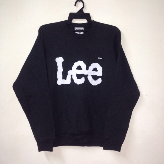 Vtg 90s Lee made in usa biglogo sweatshirt !! Rare WDUY4I5v