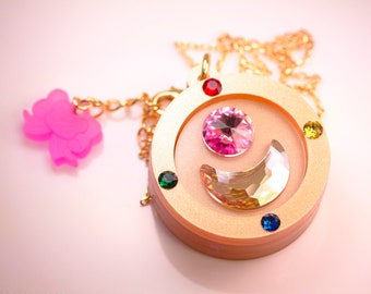 Season 1 Compact Laser Cut Acrylic Sailor Moon Inspired Necklace or Keychain