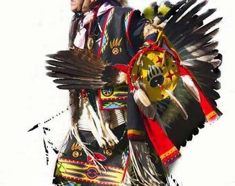 Native American Indian Dancer Photography, American Indian Wall Art, Powwow Ceremonial Dance Fine Art Photography, Native American Art