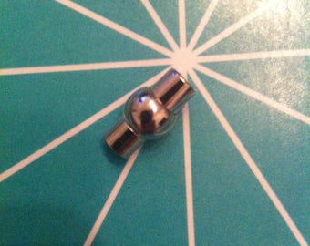 Silver 1 magnetic clasp 16 x 10 mm