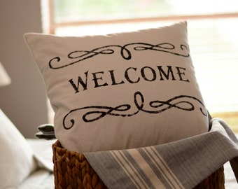 "Welcome - pillow cover (18""x18"")"