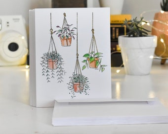Hanging Plants Blank Cards with Envelopes
