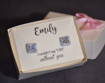Custom/personalized Earring box (set of 6) Bridal Gifts, Bridal Party, Bridesmaids, Maid of Honor, Wedding