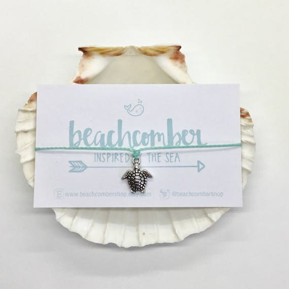 sea turtle bracelet anklet, party favour, friendship bracelet, beach jewelry, mermaid jewelry, bridesmaid gift