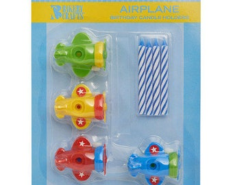 Airplane Candle Holders & Candles