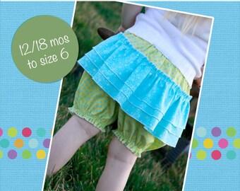 Emma's ruffle bloomers PDF Pattern size 18 months to size 6