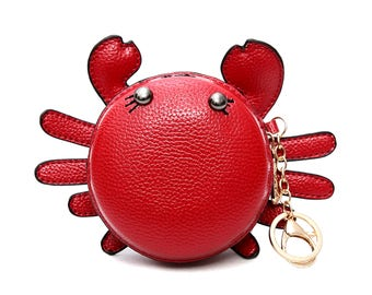 supercute crab lobster leather coinpurse wallet