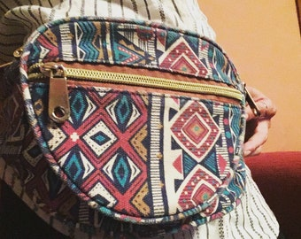 80's 90's aztec boho retro bumbag festival bag