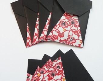 Winter - Set of 4 Mini-enveloppes + origami cards