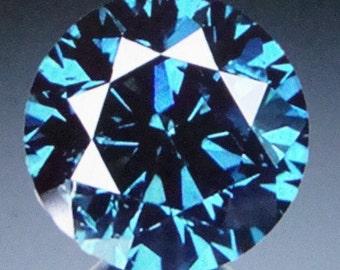 0.21 Ct Natural Blue Diamond Diamond Gemstone Natural Gemstone April Gemstone April Birthstone Fancy Blue Gemstone Natural