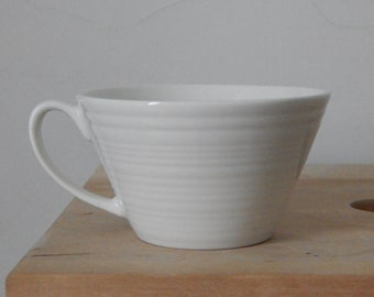 Vintage White coffee cup White Porcelain
