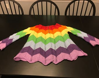Baby and girl multicolor sweater
