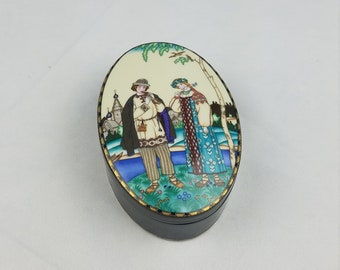 Vintage Heinrich Villeroy & Boch The Snow Maiden porcelain trinket box