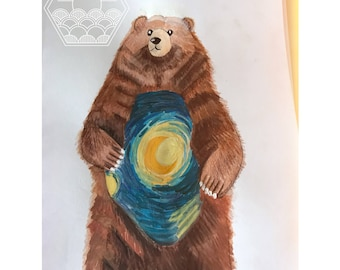 Bear on a Starry, Starry, night