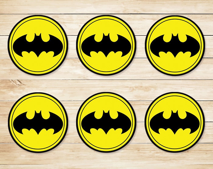 Batman Sticker Batman Cupcake Topper Batman Party Favors