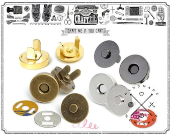 Best Price! 18 mm Magnetic Snaps Closure Button Strong Force Clasps Set of 10