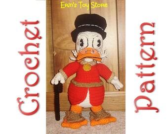 Uncle Scrooge a Crochet Pattern by Erin Scull