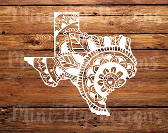 Handdrawn Texas Mandala