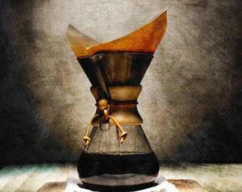 Coffee Pot,Culinary Art, Kitchen Decor, Food Photography,Restaurant Art, Home Decor, Food Art,Rustic,Vintage