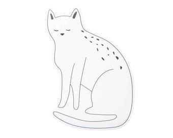 Aufkleber Wand Katze schwarz / weiß - Repositionierbarer Kleber vinyl