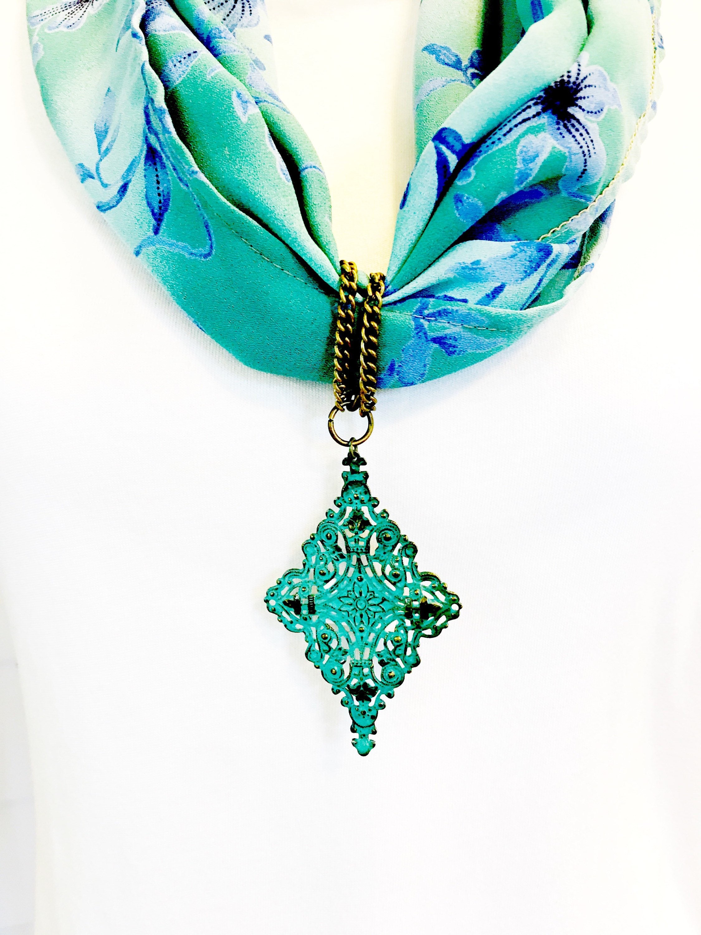 Turquoise scarf jewelry turquoise filigree pendant scarf turquoise scarf jewelry turquoise filigree pendant scarf necklace jewelry metal turquoise scarf pendant scarf ring scarf slide aloadofball Gallery