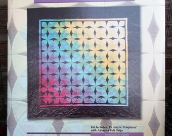 Omnigrid Rotary Cutting Templates Wheel of Mystery Quilt w Full Color Illustrations Instructions Sharlene Jorgenson