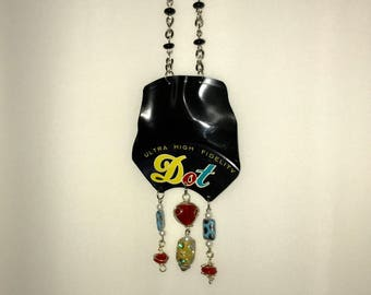 Vinyl Record Necklace - Dot Record Label