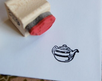 Tiny Teapot  Mounted Rubber Stamp