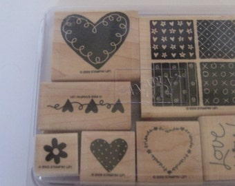 Loving Hearts Stampin Up Stamp Set / Craft Supplies / Rubber Stamps