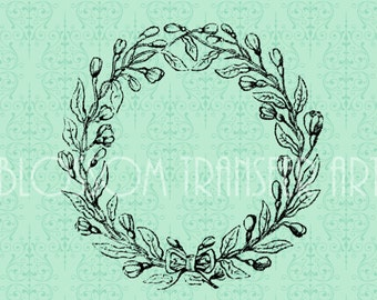 Vintage Frame - Iron on fabric - Download for papercrafts, Iron on totes, pillows, burlap - Printable Images - DIY - 1940