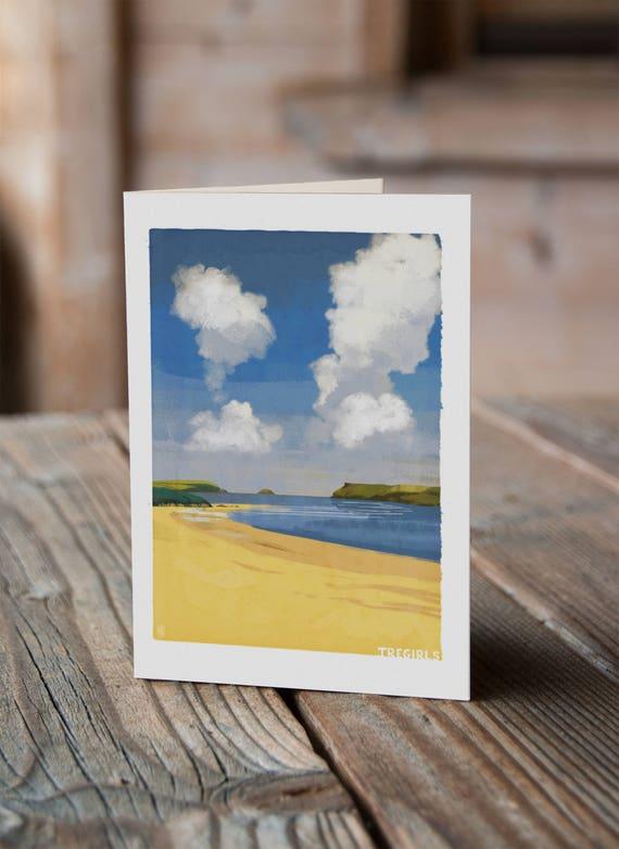 Cornish Coasts - Tregirls Greetings Card