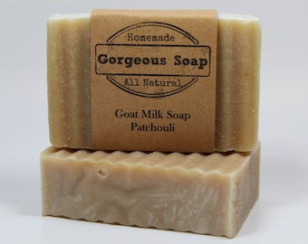 Patchouli Goat Milk Soap - All Natural Soap, Handmade Soap, Homemade Soap, Handcrafted Soap