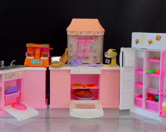 Barbie Kitchen Fridge Owen Sink Wind up Appliances Accessories Mattel 1995