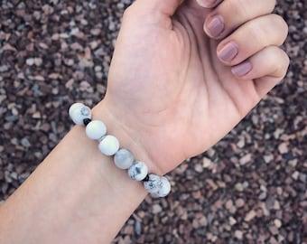 Howlite Beaded Bracelet | Beaded Bracelet | Boho bracelet | Gypsy Bracelet | Bracelet