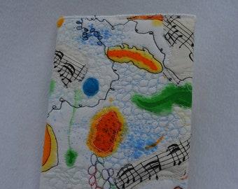 Musical splash covered journal