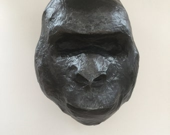 Gorilla - paper mache Animal Head large