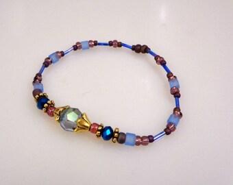 Fancy Glass Bead Bracelet