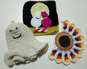 Various wool pot holders