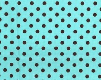 Tissu Michael Miller à la verge - Dumb Dot Aqua brun