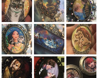 Custom Painted Pendants and Lockets