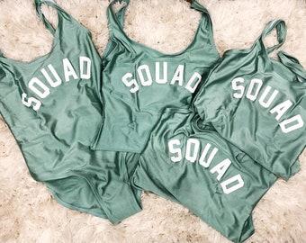 Squad Swimsuit   Squad Swim   Bachelorette Party Swimsuit