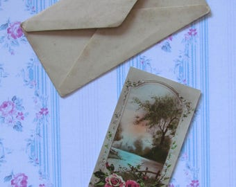 Antique greeting card, unwritten, Happy Holiday