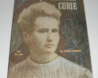 The Story of Madame Curie by Alice Thorne Vintage Scholastic Softcover Book