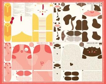 Farm Fun (20530 11) Farm Animal Panel Multi by Stacy Iset Hsu - 1 panel
