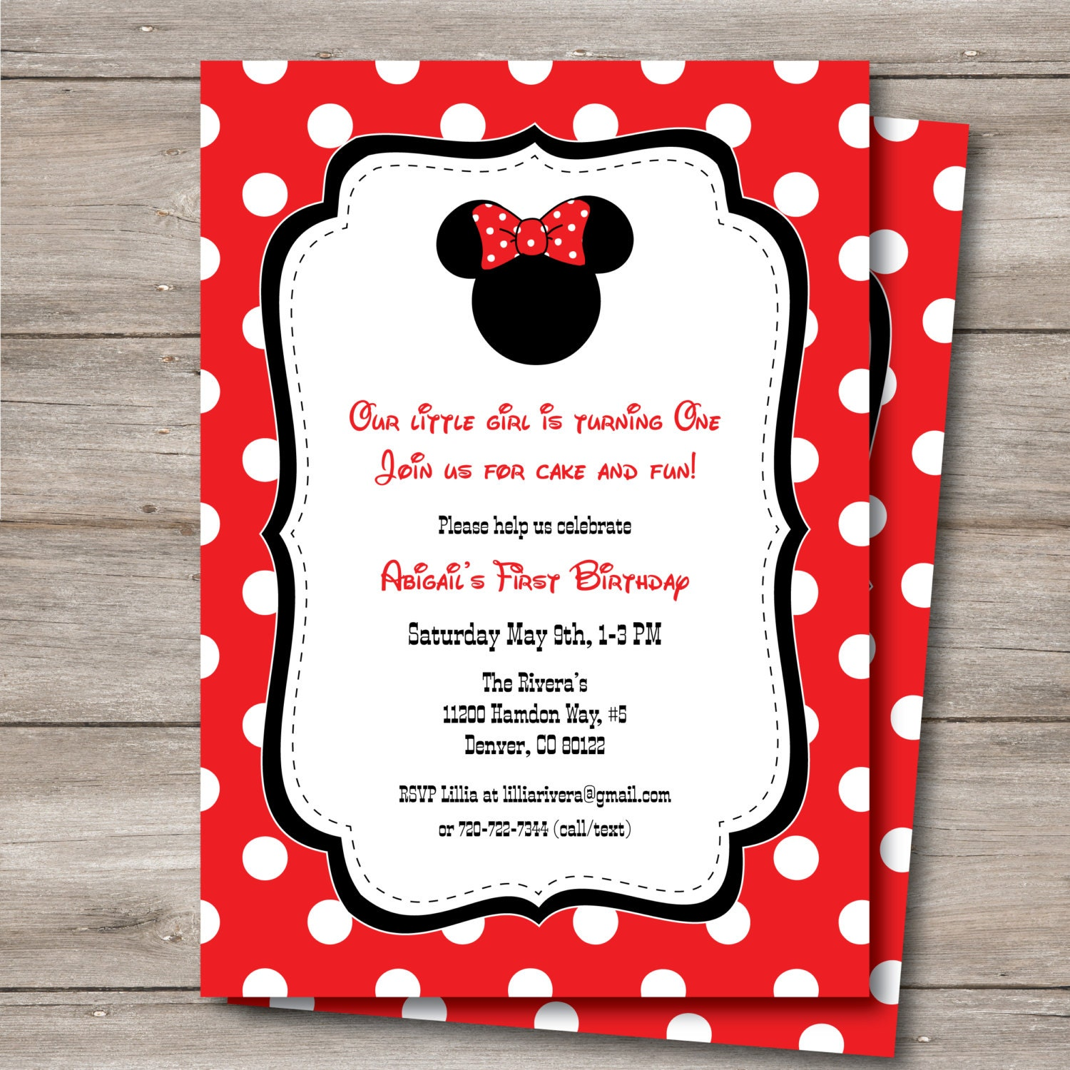 Amazing Free Minnie Mouse Baby Shower Invitations Photos ...